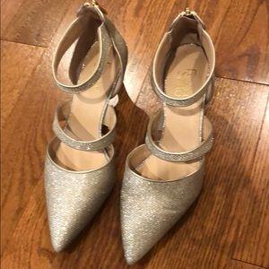 Gold Franco Sarto low heel